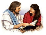 Jesus Shares Bible With Woman