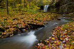 River and Waterfall in Autumn
