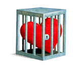 Heart Locked in Cage