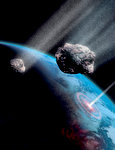 Asteroids Shower the Earth