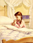 Girl Praying at Bedside
