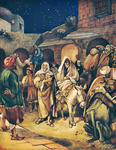 Joseph and Mary Arrive at Bethlehem