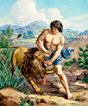 Samson Slays the Lion
