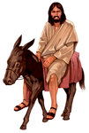 Jesus on Young Donkey